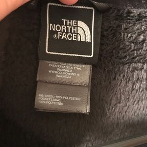 Black Soft Fuzzy North Face jacket